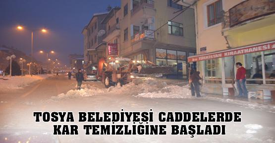 Tosya Belediyesi Kar Temizleme Çalışması