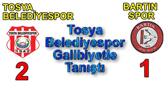 Tosya Belediyespor Galibiyetle Tanışdı