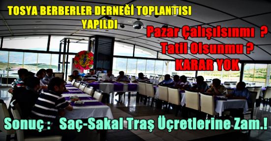Tosya Berber Esnafı İstişare Toplantısında Sürpriz Kararlar