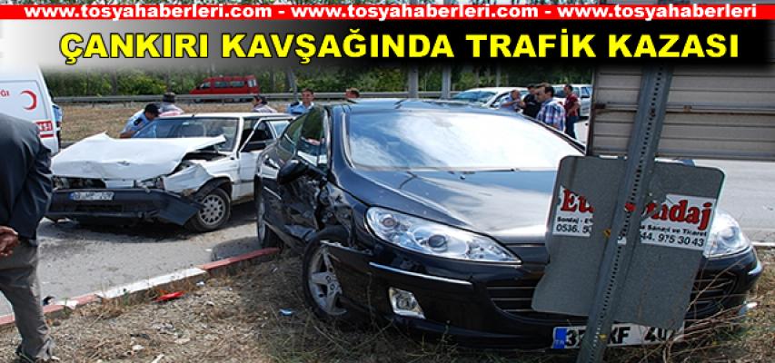 Tosya Çankırı Kavşağında Trafik Kazası