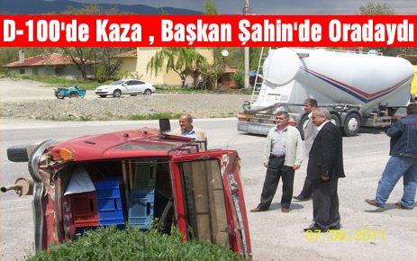 Tosya D-100 de Kaza : 1 Yaralı