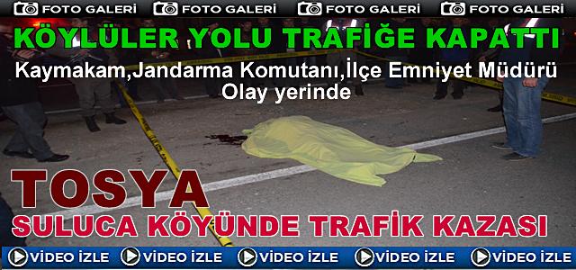 Tosya Suluca Köyünde Arabanın Çarptığı Vatandaş Hayatını Kaybetti