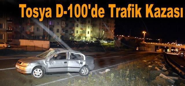 TOSYA D-100 KARAYOLUNDA OTOMOBİL TAKLA ATTI: 1 YARALI