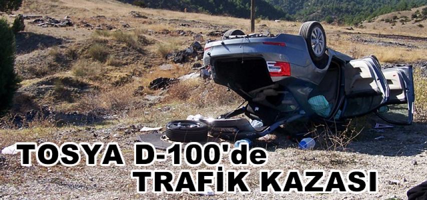 TOSYA D-100'DE OTOMOBİL TAKLA ATTI, 3 YARALI