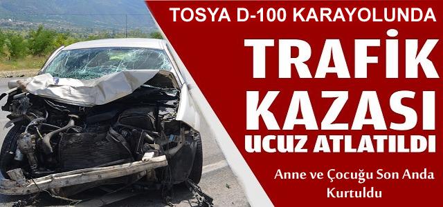 Tosya D-100'de Trafik Kazası