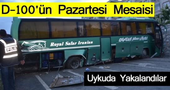 Tosya D-100'ün Son Kurbanı İran Otobüsü TRAFİK KAZASI