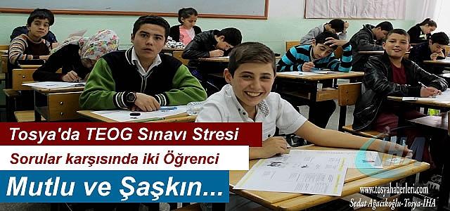 Tosya'da 489 Öğrenci TEOG Sınavında Ter Döktü