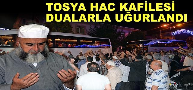TOSYA'DA İLK HAC KAFİLESİ DUALARLA UĞURLANDI
