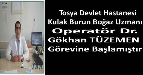 Tosya Devlet Hastanesi Kulak Burun Boğaz Doktoru Göreve Başladı