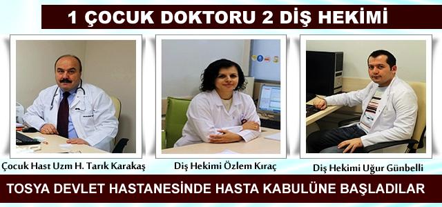 Tosya Devlet Hastanesine Doktor Ataması