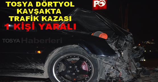 Tosya Dörtyol Kavşakta Trafik Kazası