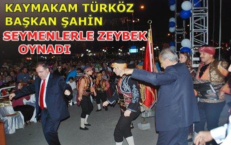 Tosya Festivalinde Kaymakam ve Belediye Başkanın Zeybek Oyunu