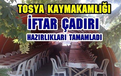 TOSYA İFTAR ÇADIRI HAZIRLIKLARI TAMAMLADI
