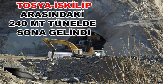 Tosya - İskilip arasındaki Tünelde Sona Gelindi