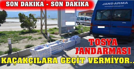 Tosya Jandarması Kaçakçılara Geçit Vermiyor