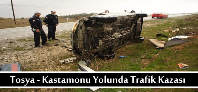 Tosya - Kastamonu yolunda Trafik Kazası