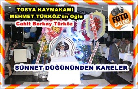 Tosya Kaymakamı Mehmet Türköz'ün oğlu Cahit Berkay'ın  düğünü