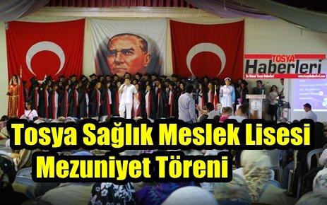 Tosya Sağlık Meslek Lisesinde mezuniyet töreni düzenlendi.