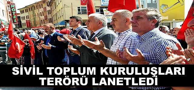 TOSYA SİVİL TOPLUM KURULUŞLARI TERÖRÜ LANETLEDİ