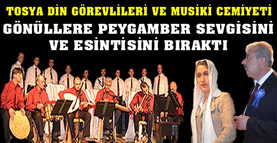Tosya Tasavvuf Musikisi Gönüllere Peygamber sevgisi esintisi bıraktı
