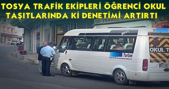 Tosya Trafik Taşımalı Eğitim Kontrollerini Başladı