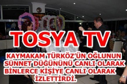 TOSYA TV DÜĞÜNÜ BİNLERCE KİŞİYE İZLETTİRDİ