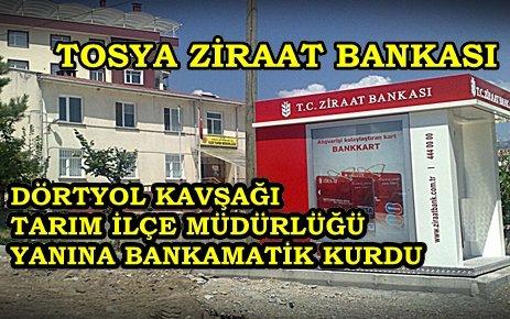 TOSYA ZİRAAT BANKASINDAN VATANDAŞA HİZMET