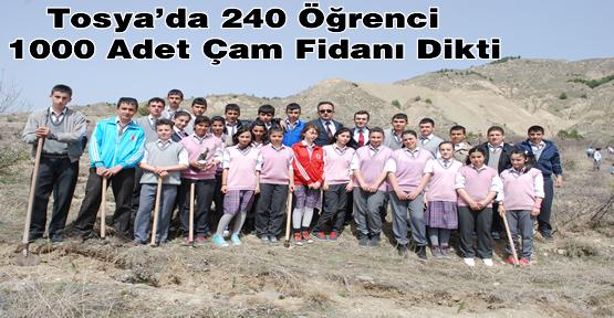 Tosya'da 1 Öğrenci 1 Fidan Kampanyası yapıldı