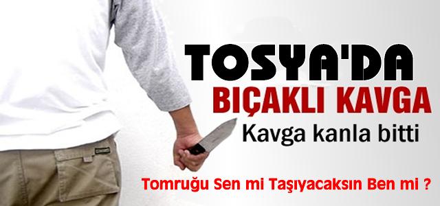 Tosya'da Aile İçinde Bıçaklı Kavga;2 Yaralı!