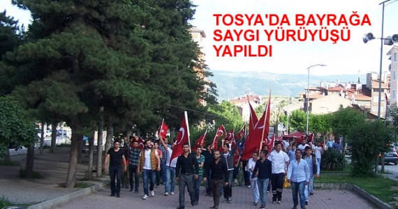 Tosya'da Bayrağa Destek