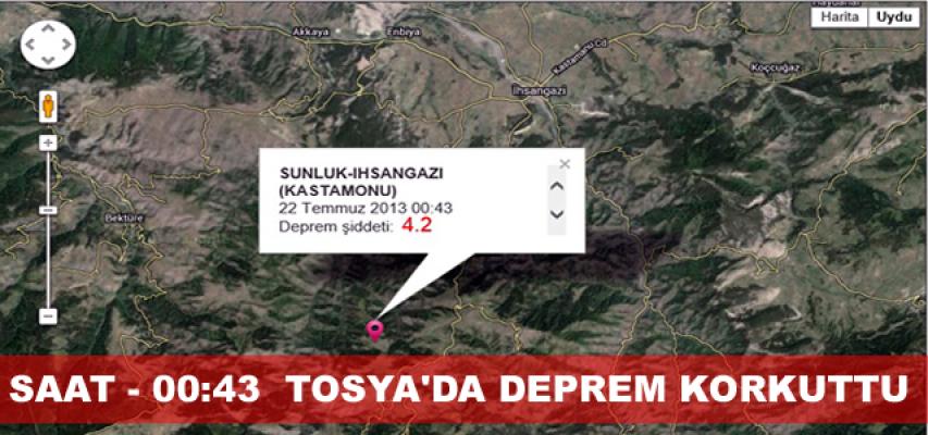 Tosya'da 4.2'lik Deprem Korku ve Panik Yarattı