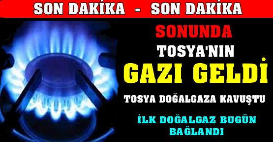 Tosya'da Doğalgaz Start Aldı.