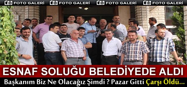 TOSYA'DA ESNAF SOLUĞU BELEDİYEDE ALDI!..