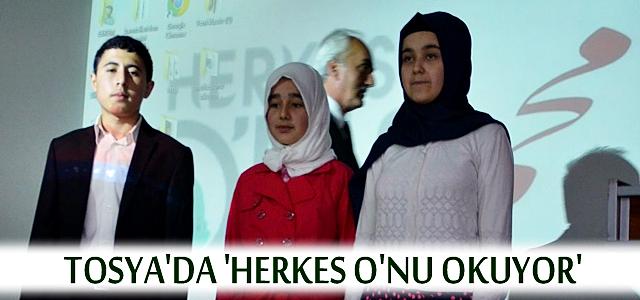 TOSYA'DA 'HERKES O'NU OKUYOR' ÖDÜLLERİ DAĞITILDI
