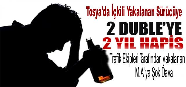 Tosya'da İçkili Yakalanan Sürücüye Şok