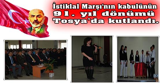 Tosya'da, İstiklal Marşı Kutlamaları Muhteşem oldu