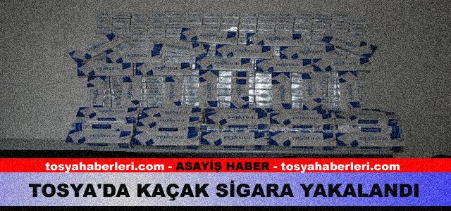 TOSYA'DA KAÇAK SİGARA YAKALANDI