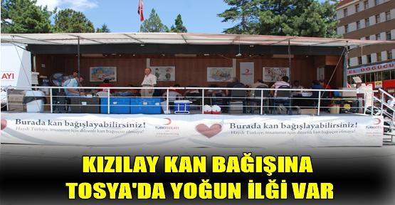 Tosya'da Kızlay Kan Bağışı Kampanyasına Yoğun İlği