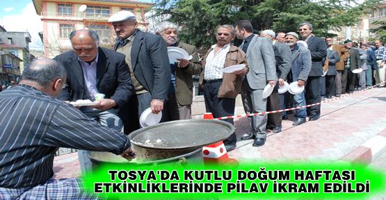 Tosya'da Kutlu Doğum Haftasında Pilav İkram Edildi