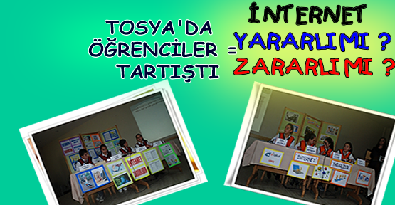 Tosya'da Öğrenciler İnterneti Tartıştı