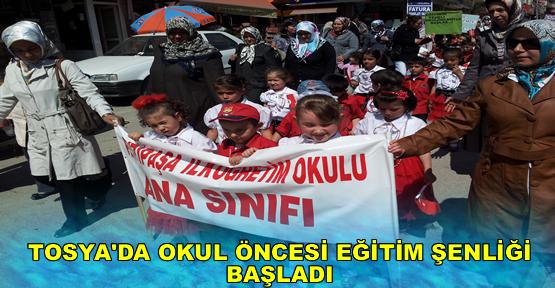 Tosya'da Okul Öncesi Eğitim Şenliği Yapıldı