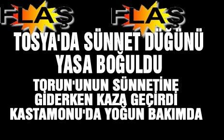 Tosya'da Sünnet Düğünü Yasa Boğuldu