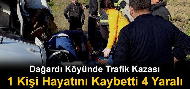 TOSYA'DA TRAFİK KAZASI 1 KİŞİ ÖLDÜ 4 KİŞİ YARALANDI