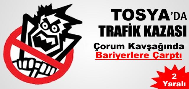 Tosya'da Trafik Kazası 2 Yaralı