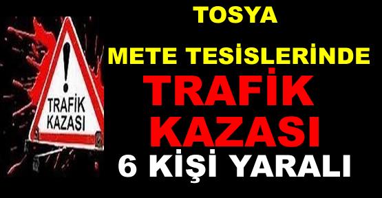 Tosya'da Trafik Kazası 6 kişi yaralı