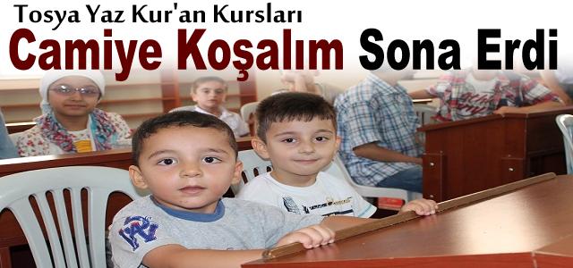 Tosya'da Yaz Kuran Kursu Sona Erdi
