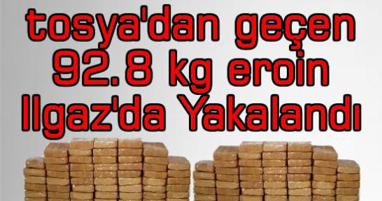 Tosya'dan Geçen Eroin Ilgaz'da Yakalandı