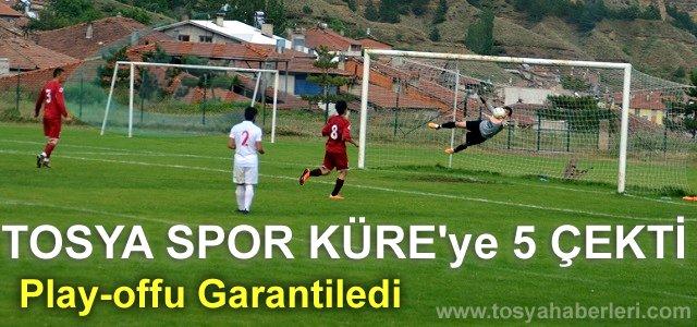 TOSYASPOR KÜRESPOR#039;U FARKLI YENDİ