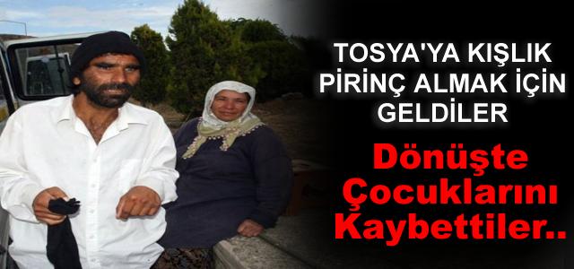 Tosya'ya Pirince giderken evdeki çocukdan oldular