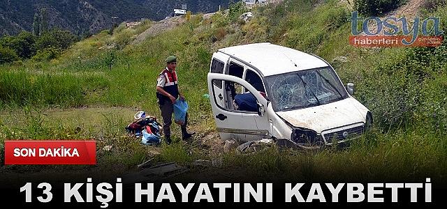 Trafik Kazalarında 13 Kişi Öldü
